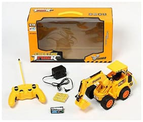 latest radhe Remote Control Yellow Construction Truck Jcb