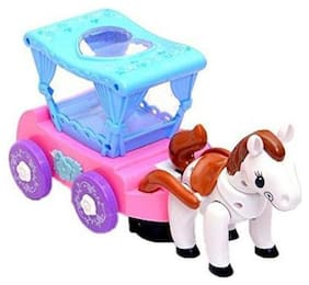 latest radhe New Multicolour Horse Flash Carriage Musical Toy