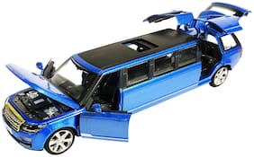 latest radhe Limousine Die-Cast 4 Wheel Drive Metal Car with 6 Openable Doors and Light