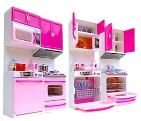 latest radhe New Pink Modern Kitchen Set (Multicolour) for kids