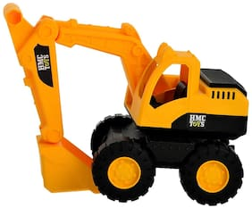 latest radhe Push and Go Friction Powered Construction Site Excavator Toy with Moveable Parts