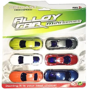 latest radhe Luxury & Sports Car Metal Die-Cast Pull Back Action Vehicles Play Set-Pack of 6