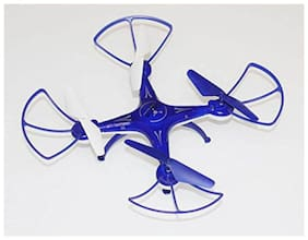 latest radhe Quadcopter 6-AXIS GYRO, 360 deg, with USB Charger and RC. (Blue)