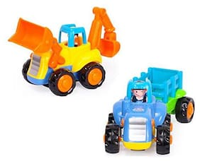 latest radhe Imported Unbreakable Automobile Car Toys for Kids Set of 2