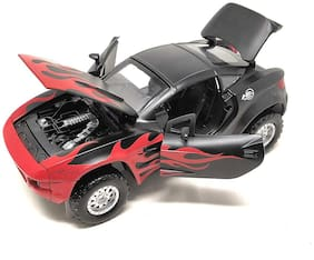 latest radhe  Die-Cast Metal Rally Fighter Car 4 Wheel Drive Metal Car Pull Back with 4 Openable Doors & Light, Music Great Gift for Boys and Girls Above 4 Years Old