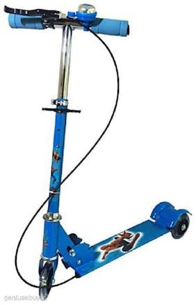 latest radhe Heavy Engineering Grade Steel Metallic Big Size 3 Wheel Height Adjustable Scooter for Kids (Blue)