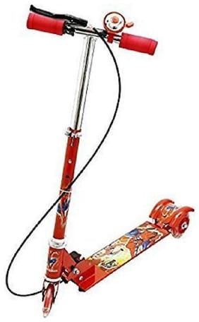 latest radhe Durable Big Wheel Kids Scooter with Bell(Red)
