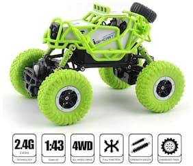 latest radhe Remote Controlled Rock Crawler Rock Through Off Road i-ghost RC Monster Truck, Four wheel Drive, 1:43 Scale