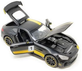 latest radhe Die-Cast 4 Wheel Drive Metal Benz AMG GT3 Pull Back Car with 4 Openable Doors, Engine Cover, Tail with Front and Rear Light and Music for Boys and Girls