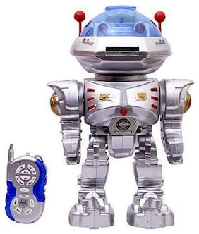 latest radhe Remote Control Robot Frisbee Throwing Toy