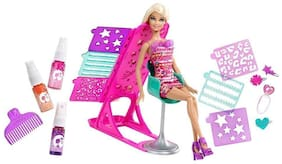 latest radhe Fashion Doll Hair Color & Design Salon Set with Accessories Toy Set for Small Girls