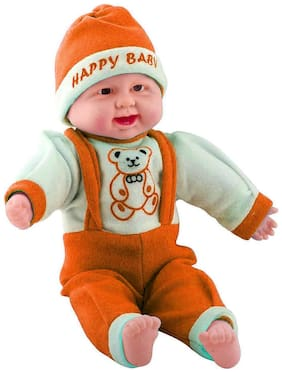 Kanchan Toys Laughing Baby Amazing Toy For Kids (Orange)
