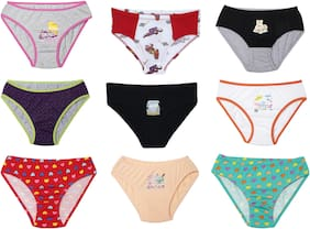 Leading Lady Panty & bloomer for Girls - Multi , Set of 9