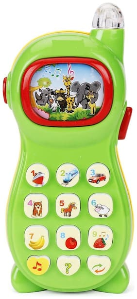 Learner Study System Mobile Phone with Eight Projection Picture for Kids (1Pc) Assorted Color