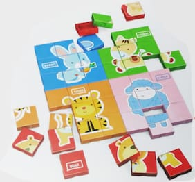 Learning Animal Puzzle Card Blocks For Educating Toy For Your Child (HCCD ENTERPRISE)