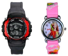 7 lights & barbie Watch for kids combo