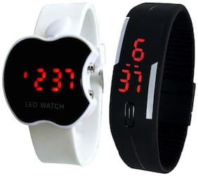 LED WATCH Combo of White Apple Led And Black Led Digital Watch