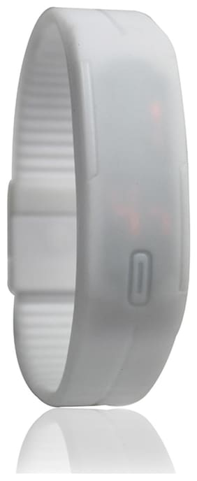 LED White Wrist Watch For Kids