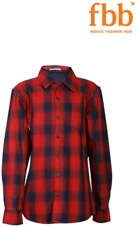 Lee Cooper Boy Cotton Checked Shirt Multi