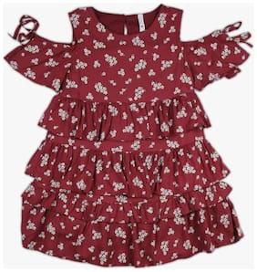 Lee Cooper Floral Print Tiered Dress