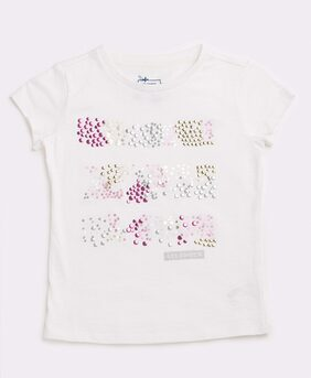 Lee Cooper Girl Cotton Solid T Shirt - White