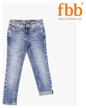 Lee Cooper Light Washed Mid Rise Girls Jeans