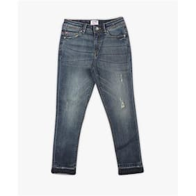 Lee Cooper Lightly Washed Distressed Jeans