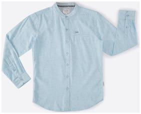 Lee Cooper Boy Cotton Solid Shirt Blue