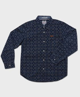 Lee Cooper Printed Shirt with Patch Pocket