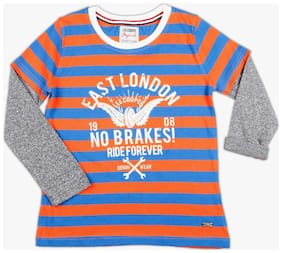 Lee Cooper Stripes T-Shirt with Doctor Sleeves