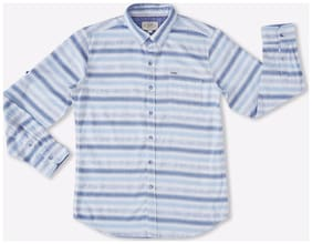 Lee Cooper Boy Cotton Striped Shirt Blue