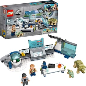 LEGO Jurassic World Dr. Wu's Lab: Baby Dinosaurs Breakout 75939 Fun Dinosaur Toy Building Kit;Featuring Owen Grady;Plus Baby Triceratops and Ankylosaurus Toy Dinosaur Figures;(164 Pieces)