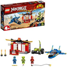 LEGO NINJAGO Legacy Storm Fighter Battle 71703 Ninja Playset Building Toy for Kids Featuring Ninja Action Figures;(165 Pieces)