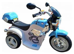 Letzride cruiser battery operated kids bike blue