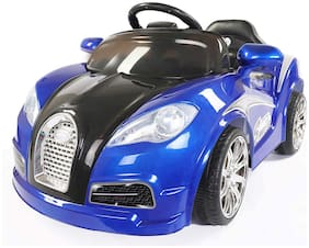 LETZRIDE LZ 3300 Blue Car Battery Operated Ride On