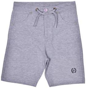 li'l tomatoes Cotton Solid Shorts Boy (Grey)