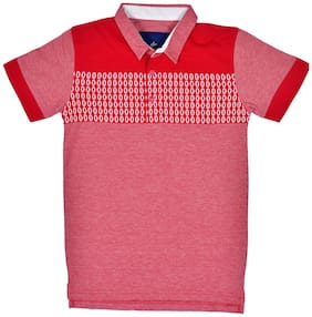 Li'l Tomatoes Boy Cotton Printed T-shirt - Red
