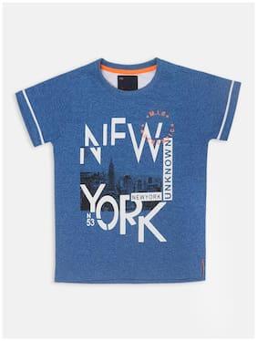 Li'l Tomatoes Cotton Printed T shirt for Baby Boy - Blue