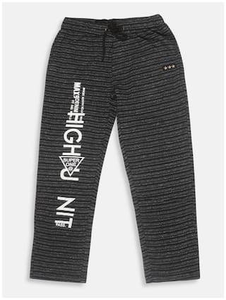 Li'l Tomatoes Boys Track Pant With FREE 3-Ply Face Mask Black