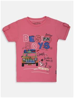 Li'l Tomatoes Cotton Printed T shirt for Baby Boy - Pink