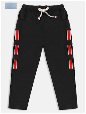 Li'l Tomatoes Boy Polyester Track pants - Black