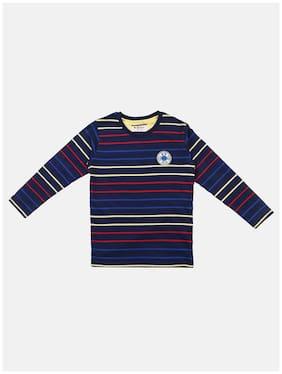 Li'l Tomatoes Boy Cotton Striped T-shirt - Multi
