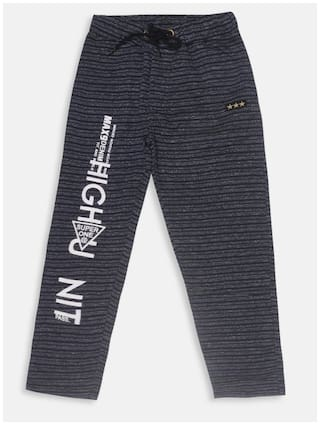 Li'l Tomatoes Boys Track Pant With FREE 3-Ply Face Mask Blue