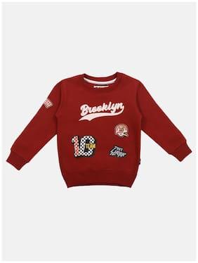 Li'l Tomatoes Boy Knitted Printed Sweatshirt - Red
