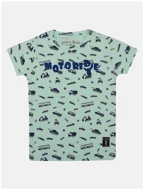 Li'l Tomatoes Cotton Printed T shirt for Baby Boy - Green