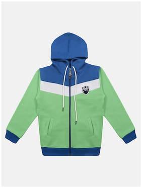 Li'l Tomatoes Boy Knitted Colorblocked Winter jacket - Green