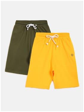Li'l Tomatoes Boy Solid Shorts & 3/4ths - Yellow & Green