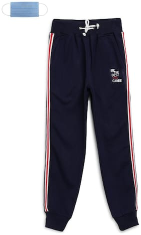 Li'l Tomatoes Boy Cotton Track pants - Blue