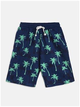 Li'l Tomatoes Boy Printed Shorts & 3/4ths - Blue