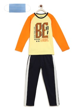 Li'l Tomatoes Boys Night Suit With FREE 3-Ply Face Mask Green